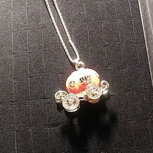 Jeweled Pumpkin Coach Necklace